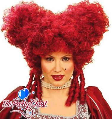 BURGUNDY BAROQUE PERIOD UGLY SISTER PANTOMIME WIG Panto Dam Noble Lady Wig 6325R