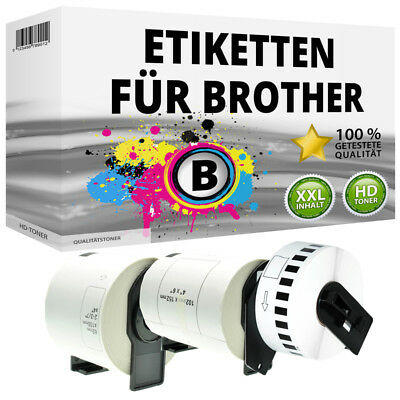 Etiketten für Brother P-Touch QL 500 570 580 650 700 710 1000 1050 N BW A NW