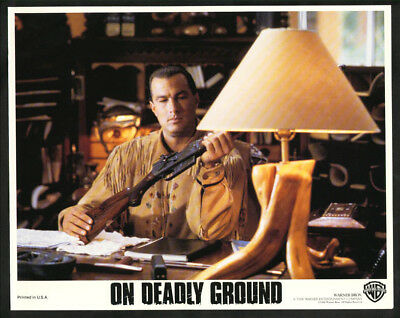On Deadly Ground-8X10 Color Photo-Seagal At Lodge Fn