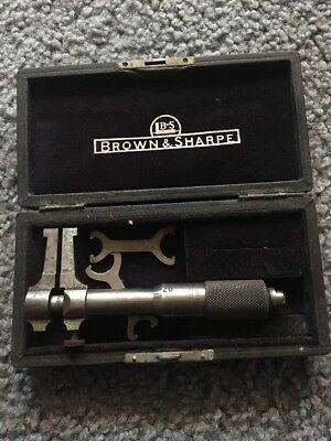 Brown & Sharpe  MFG. CO.  Inside  Micrometer   Old Machinist Tool In Case