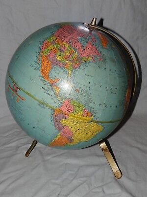 Vintage REPLOGLE Reference 12 World Globe has Union of Soviet Socialist Republic
