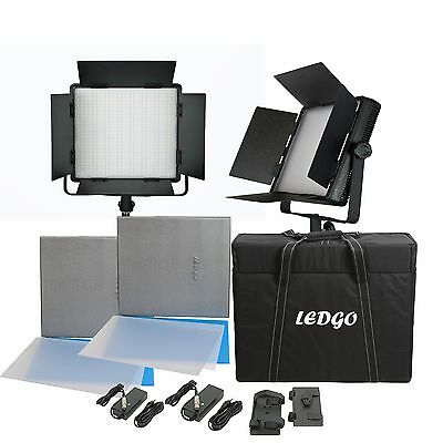 Sparbundle 2 Bi-Color LED Panels LEDGO LG-900CSC DIGITAL mit Transportkoffer