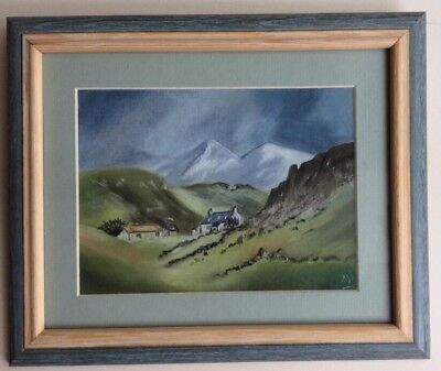 Quality Pastel Drawing Picture COTTAGE, KIN LOCHBERVIE, SCOTLAND by A Weston