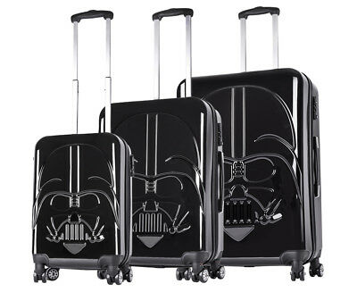 Star Wars Hardshell Darth Vader 3-Piece 4W Luggage Set - Black