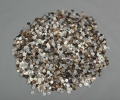 Vtg. 5.4 lbs Mother of Pearl Buttons lot Brown Silver Gray #329 MOP Button Shell