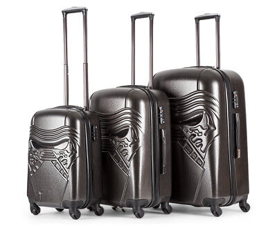 Star Wars Hardshell Kylo Ren 3-Piece 4W Luggage Set - Charcoal