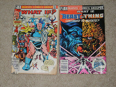 """Marvel Comics """"What If?""""  Vol. 1 # 34 and #37 from 1982 and 1983."""