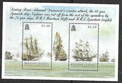 BRITISH INDIAN OCEAN TERRITORY A miniature sheet with (2) stamps 2005