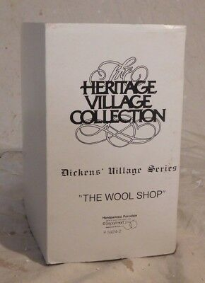Dept 56 ESTATE SALE!  Dickens Village - The Wool Shop  #5924-2