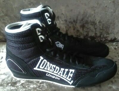 Lonsdale black  boxing boots Size UK 6