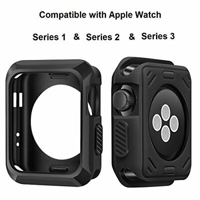 Apple Watch Cover 38mm Slim Rugged HQ Perfect Fit Shock-proof TPU Matte Black