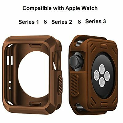 Apple Watch Case 38mm Slim Rugged HQ Perfect Fit Shock-proof TPU Matte Brown