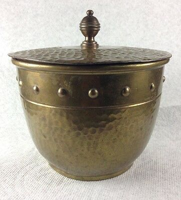 Antique Arts And Crafts Rare Brass/bronze Lidded Jar Germany