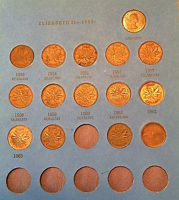Canadian Small Cent Collection 1920-1966 35 coins