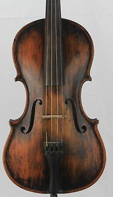Rare old antique American 4/4 Violin  Jacob Sackett Sallytown 1884 Unusual Piece