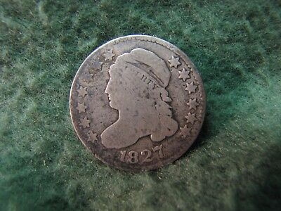 1827 United States Capped Bust Dime - Date is Clear  90% Silver  10 Cents Coin