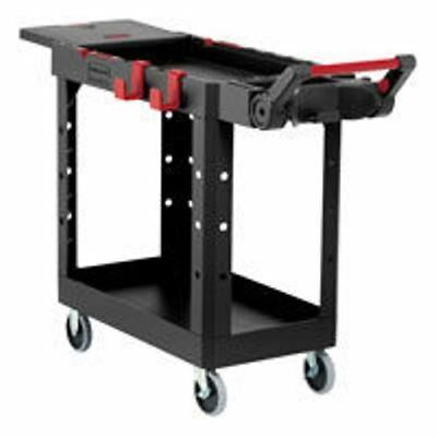 Need Commercial-Strength?  Rubbermaid RCP 1997206 Black Heavy Duty Work Cart