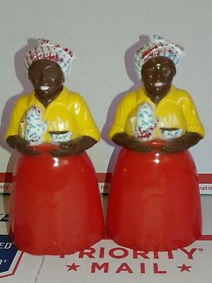 Vintage Black Americana F & F Langniappe Of N.o. Salt & Pepper Shakers