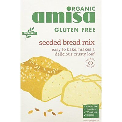 Amisa Gluten Free Organic Seeded Bread Mix 500 g (Pack of 2)