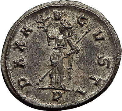 TACITUS 276AD Ticinum Authentic Ancient Roman Coin PAX Peace Goddess i65431