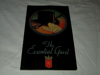 Hiram Walker-Canadian Club-The Essential Guest-1934 Bar Drink Recipes Booklet