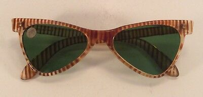 True Vintage 40's 50s Striped Sunglasses Made In Italy