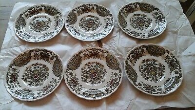 "6 Immaculate Vintage Ridgway ""Windsor"" Green  Staffordshire, Saucers - 6"" Diam."