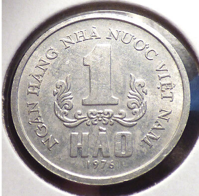 Vietnam 1 Hao 1976, XF Coin, Early Socialist Republic Issue, 1 Year Type, KM 11