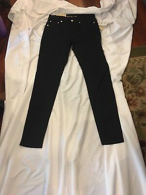 e3fc9a36c1ec Michael Kors Black Selma Skinny Jeans Womens 2 Stretch $125 Higher Rise  Pants