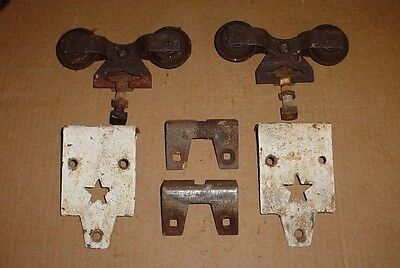 2 Vintage Starline Cannon Ball Barn Door Trolley Track Rollers