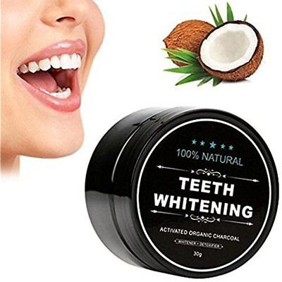 100% ORGANIC COCONUT ACTIVATED CHARCOAL TEETH WHITENING POWDER WOW Gift New
