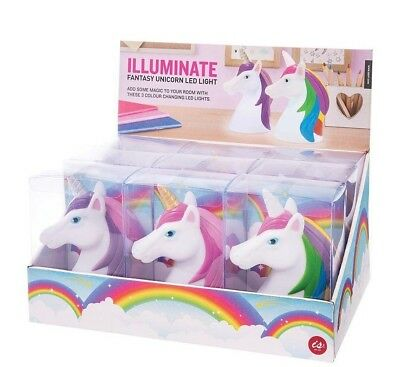 Unicorn LED Night Lights Rainbow Pink Purple Colour Changing Cool Cute Gift Fun