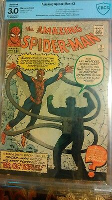 Amazing Spider-Man #3 Cbcs 3.0 First Appearance Of Doctor Octopus Doc Ock