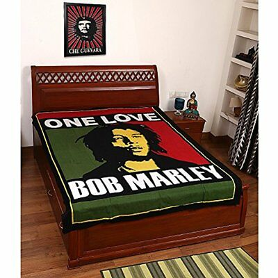 Bob Marley Bed Cover 100% Cotton Tapestry Sheet Throw Wall Hanging Hippie Gift