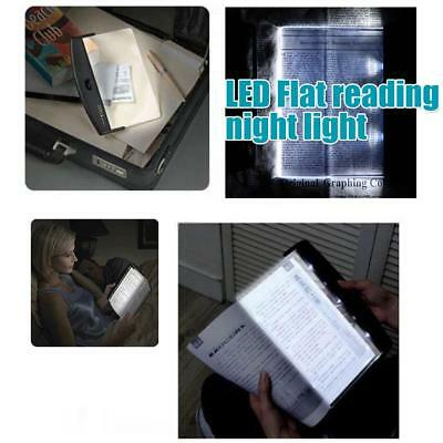 LED Light Wedge Panel Book Reading Lamp Paperback Battery Powered Night Vision