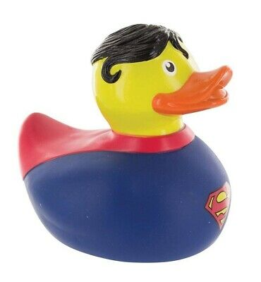 DC Comics Superman Bath Duck Rubber Ducky Pop Culture Baby Shower Gift Cute Cool