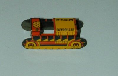 Cracker Jack Prize Lithographed Tin Caterpillar Tractor or Bulldozer USA 1930s