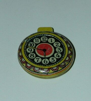 Cracker Jack Prize Lithographed Tin Pocket Watch W/ Rare Litho Variation USA