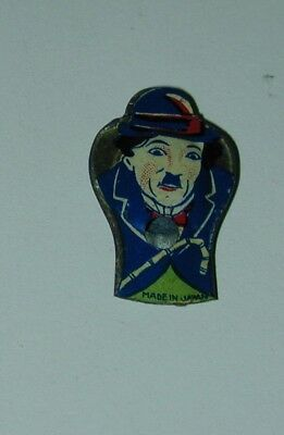 Charlie Chaplin Lithographed Tin Whistle Made in Japan Circa 1925 Cracker Jack?
