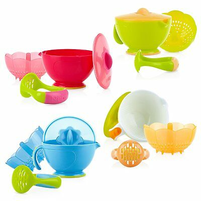 Nuby Garden Fresh Steam N Mash Baby Food Prep Bowl and Food Masher, Colors May