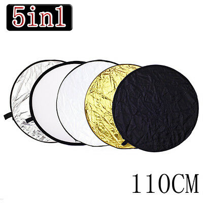 110cm 5in1 Foldable Photo Photography Light Diffuser Mulit Collapsible Reflector