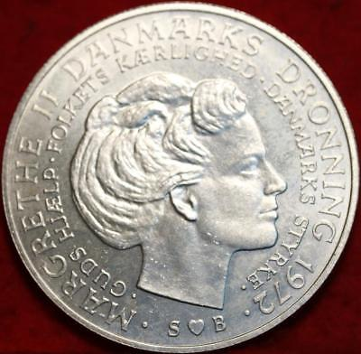 Uncirculated 1972 Denmark 10 Kroner Foreign Coin Free S/H