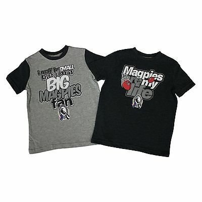 AFL Collingwood Magpies Kids 2-Piece T-Shirt Set  Sizes 1 - 6