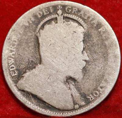 1907 Canada 25 Cents Silver Foreign Coin Free S/H