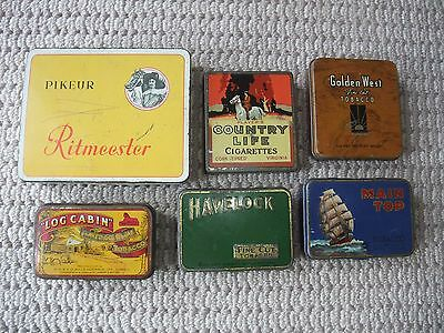 VINTAGE TOBACCO/CIGARETTE TINS: some rarities, great condition