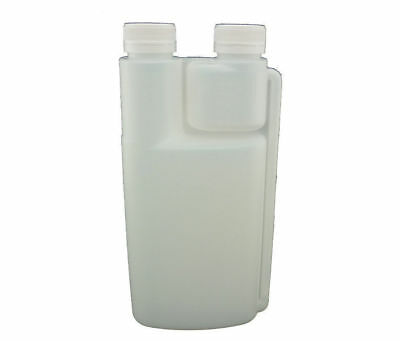 10 X 1L Plastic Twin Chamber Bottle & Tamper Evident Cap Chemical Bottle 1LT