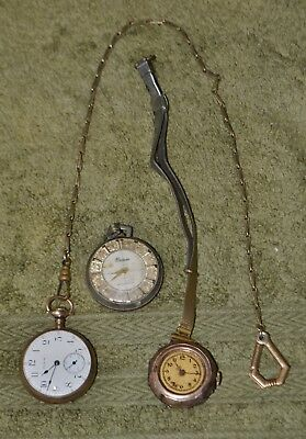 Lot of 3 (Three) Assorted Vintage Pocket Watches