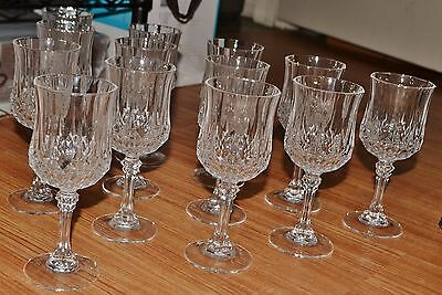 Set of 13 Cristal D'Arques Longchamp Glass Goblets – Great Condition