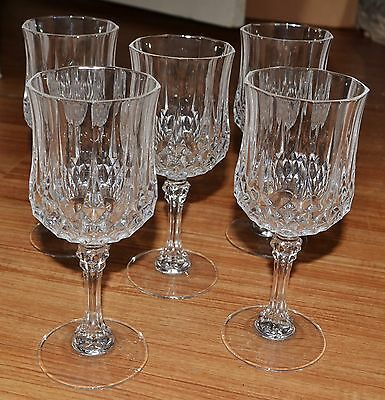Set of 5 Cristal D'Arques Longchamp Glass Goblets – Great Condition