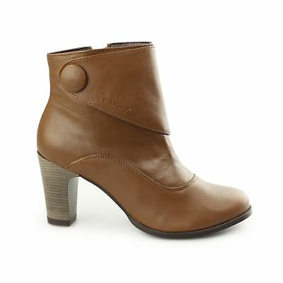 89f06cafe71 Hush Puppies WILLOW BROOK Ladies Womens Leather Zip Up Comfy Ankle Boots Tan